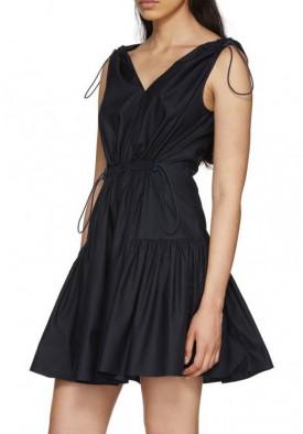 Stella McCartney Gemma Drawstring Empire-Waist Mini Dress