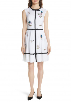 Ted Baker Iina Highgrove Embroidered Chiffon Mini DresI