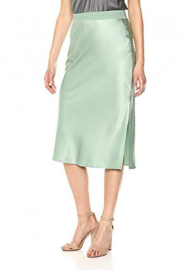 Theory Silk Satin Pull-On Skirt