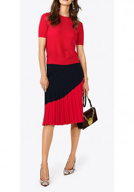 Tory Burch Alisha Pleated Skirt