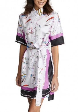Tory Burch Painted-Border Printed Shirtdress