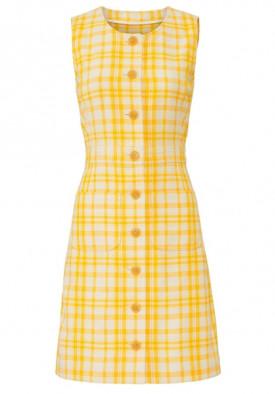 Tory Burch Plaid Print Jacquard Shift Dress
