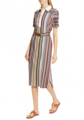 Tory Burch Striped Polo Dress