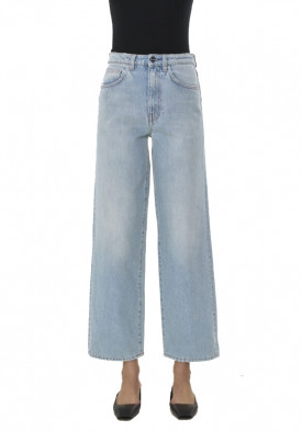 Totême Light Wash High-Waist Flared Jeans