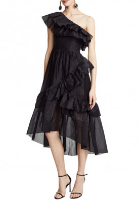 Ulla Johnson Clemente Ruffle Midi Dress