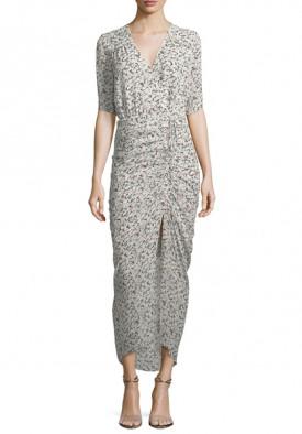 Veronica Beard Mariposa Wrap Silk Midi Dress
