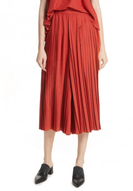 Vince High-Waist Pleated Culottes