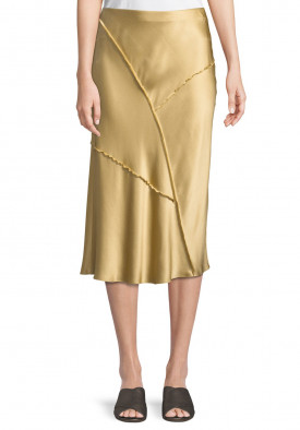 Vince Raw Edge Bias Silk Skirt