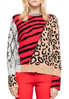 Zadig & Voltaire Delly Bis Animal Motif Sweater