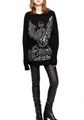 Zadig & Voltaire Jack Bis Skeleton Intarsia Sweater