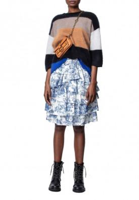 Zadig & Voltaire Joker Silk Tiered Skirt
