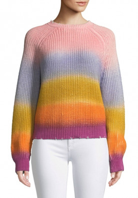 Zadig & Voltaire Kary Long-Sleeve Rainbow Gradient Sweater