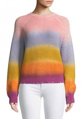 Zadig & Voltaire Kary Long-Sleeve Rainbow Gradient Sweater