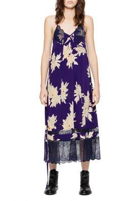 Zadig & Voltaire Roses Blossom Silk Dress