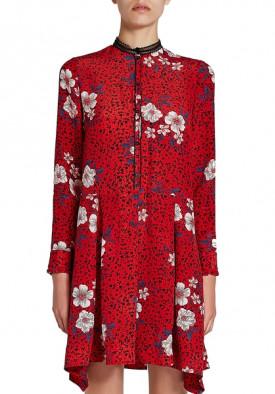 Zadig & Voltaire Ruti Pensee Floral Silk Dress