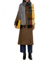 Acne Studios Vivianna Kilt Pin Mixed Motif Wool Scarf