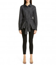 Alexander Wang Logo Waist Wool Twill Leggings