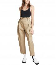 Alexander Wang Studded Belt-Loop Paperbag-Waist Pants