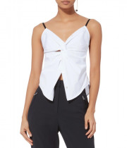 Alexander Wang Twisted Front Poplin Cami Top