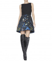 Alice + Olivia Alejandra Enchanted Forest Print Dress