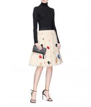 Alice + Olivia Catrina High-Rise Tulle Midi Skirt