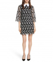 Alice + Olivia Debra Collared Lace Tunic Dress
