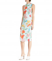 Alice + Olivia Delora Floral Sleeveless Bodycon Dress
