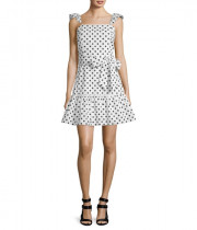 Alice + Olivia Farah Sleeveless Polka-Dot Mini Dress