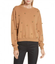 Alice + Olivia Gleeson Metal Ball Sweater