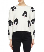 Alice + Olivia Gleeson Stace Face Boxy Sweater