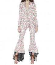Alice + Olivia Jinny Embroidered High-low Flare Pants
