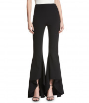 Alice + Olivia Jinny High-Waist High-Low Flare Pants