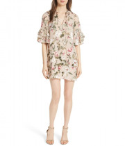 Alice + Olivia Julius Tiered Sleeve Tunic Dress