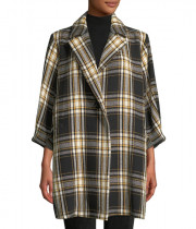 Alice + Olivia Lance Seamed Oversized Coat