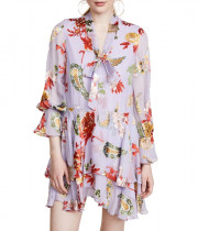 Alice + Olivia Moore Floral Ruffle Dress