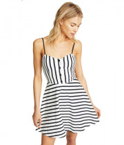 Alice + Olivia Nella Striped Button-Front Mini Dress