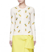 Alice + Olivia Pineapple Embroidery Cardigan