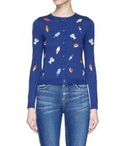 Alice + Olivia Ruthy Ice Cream Embroidered Cardigan