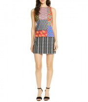 Alice + Olivia X Carla Kranendonk Clyde Patchwork Shift Dress