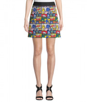 Alice + Olivia x Keith Haring Riley A-Line Mini Skirt