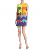 Alice + Olivia X The Beatles Clyde Printed Mini Shift Dress