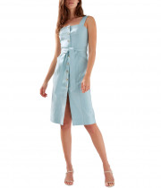 Aritzia Babaton Kofi Belted Button-Front Dress