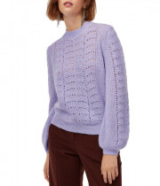 Aritzia Little Moon Gardenia Pointelle Crewneck Sweater