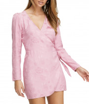 Aritzia Wilfred Callie Dress 80s Party Wrap Dress