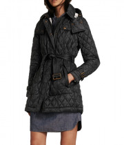 Burberry Brit Finsbridge Long Quilted Coat