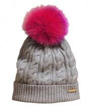 Burberry Fur Pom-Pom Wool & Cashmere Beanie