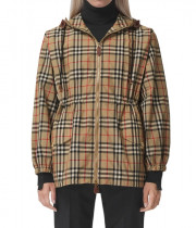 Burberry Binham Vintage Check Recycled Polyester Hooded Jacket