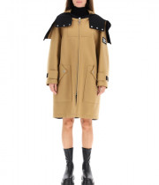 Burberry Lisburn Logo Appliqué Technical Wool Hooded Parka