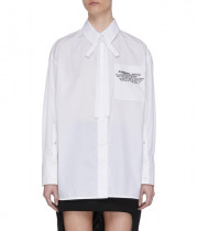 Burberry Location Print Cotton Poplin Oversized Shirt