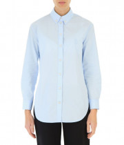 Burberry Monogram Button-Down Collar Cotton Shirt